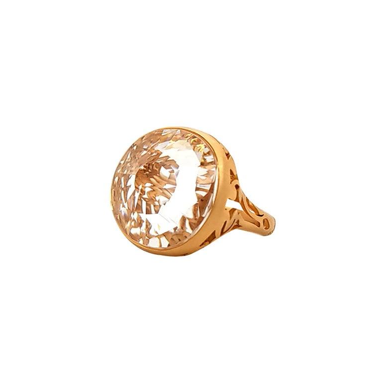 Pomellato Quartz Rose Gold Cocktail Ring