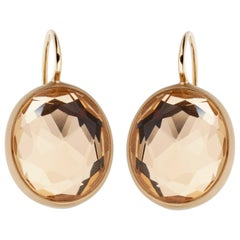 Pomellato Quartz Satin Finish Rose Gold Earrings