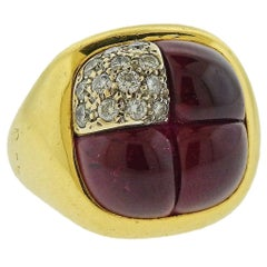 Pomellato Rhodolite Diamond Gold Ring