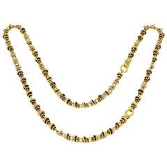 "Pomellato ""Rondelle"" Tri-Color Gold Necklace/Bracelet Set"