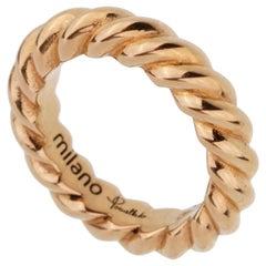 Pomellato Rose Gold Braided Pendant