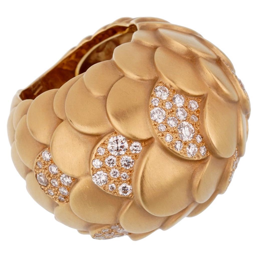 Pomellato Rose Gold Diamond Cocktail Ring