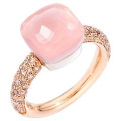 Pomellato Rose Quartz Nudo Classic Ring, A.C004BRO6/QR