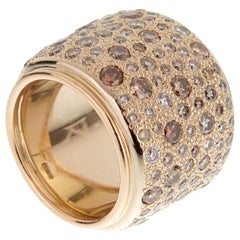 Pomellato Sabbia Diamond Band Gold Ring