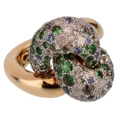 Pomellato Sapphire Diamond Rose Gold Cocktail Ring