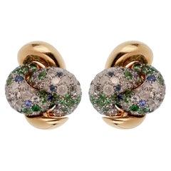 Pomellato Sapphire Diamond Rose Gold Earrings
