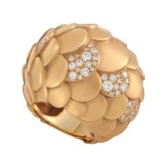 Pomellato Sirene 18K Rose Gold 1.32 Ct Diamond Ring