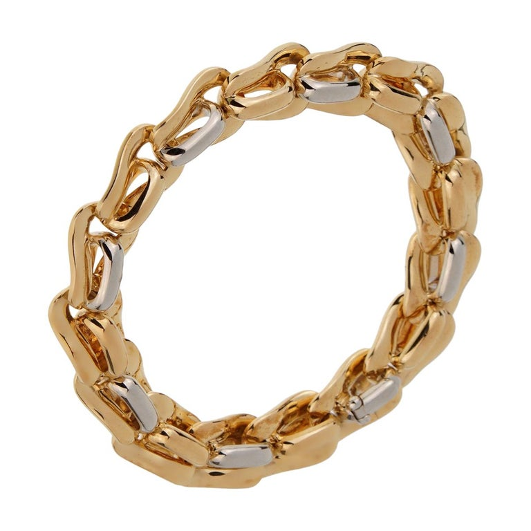 Pomellato Solid Gold 18 Karat Ladies Chain Link Bracelet For Sale