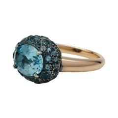 Pomellato Tabou Topaz in 18 Karat Rose Gold Ring