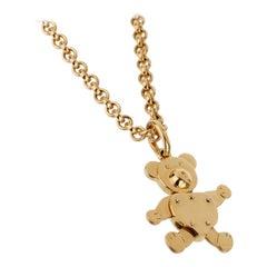 Pomellato Teddy Bear Yellow Gold Charm Necklace