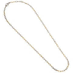 Pomellato Two-Tone Chain Link Vintage Necklace