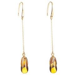 Pomellato Veleno 18 Karat Rose Gold Citrine Drop Earring O.A601GO7/OV
