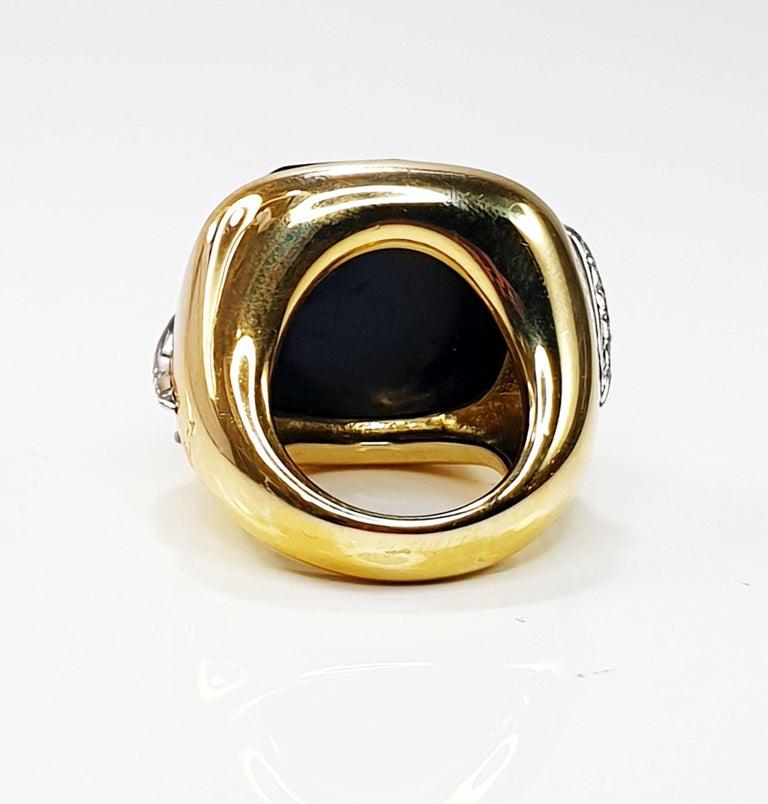 Pomellato Victoria Black Jet and 18 Karat Gold and Diamond Ring In Excellent Condition For Sale In Bilbao, ES