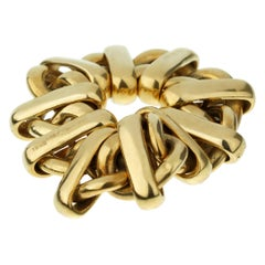 Pomellato Vintage Chain Link Yellow Gold Ring