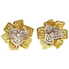 Pomellato Vintage Yellow White Gold Earrings