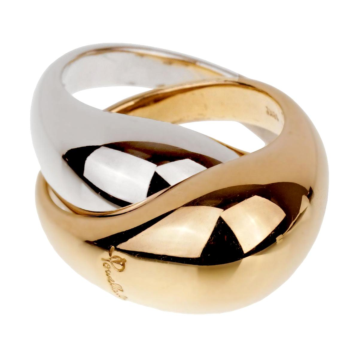 Pomellato White and Yellow Gold Cocktail Dome Ring