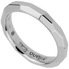 Pomellato White Gold Diamond Cut Band Ring