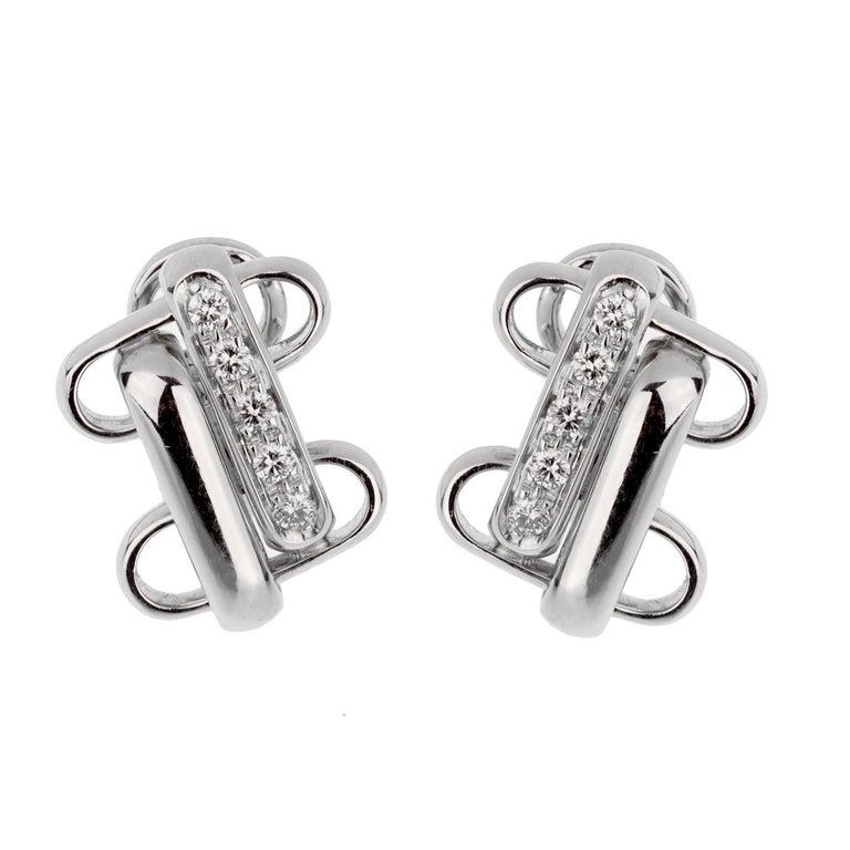 Round Cut Pomellato White Gold Diamond Earrings For Sale