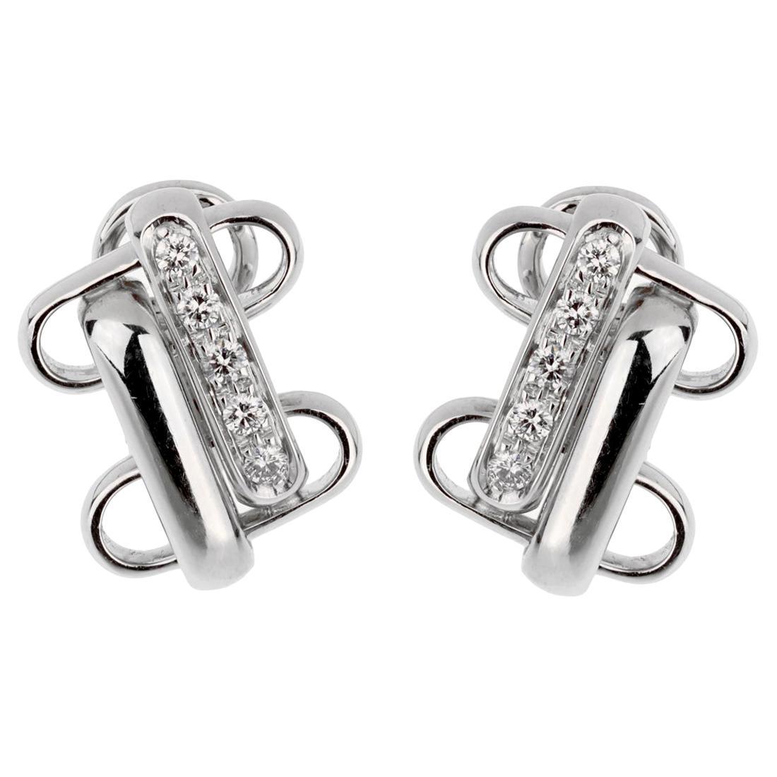 Pomellato White Gold Diamond Earrings
