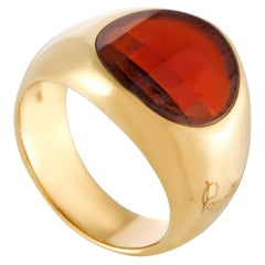 Pomellato Womens 18 Karat Yellow Gold Garnet Ring
