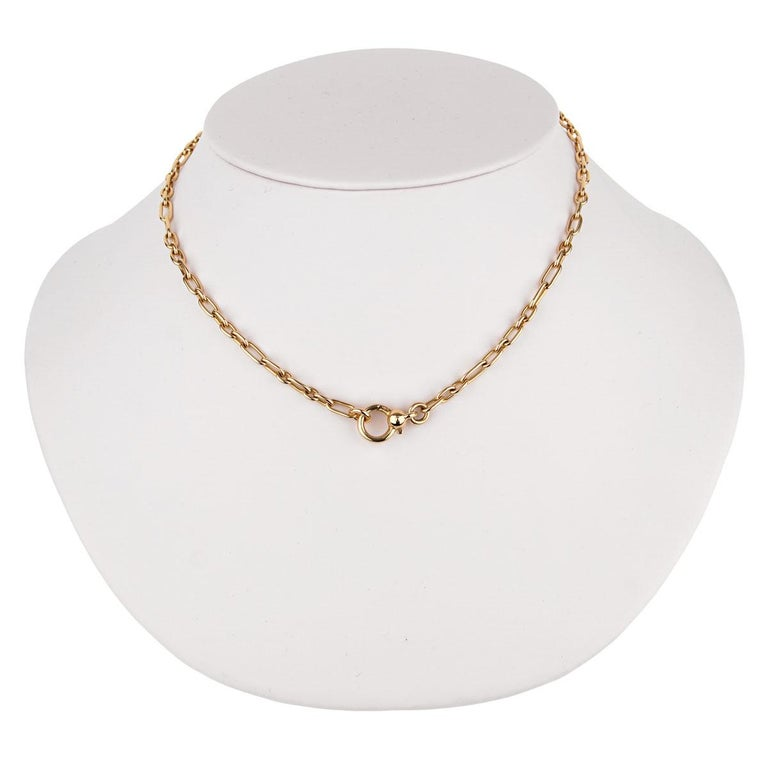 Pomellato Yellow Gold Chain Link Necklace For Sale 1