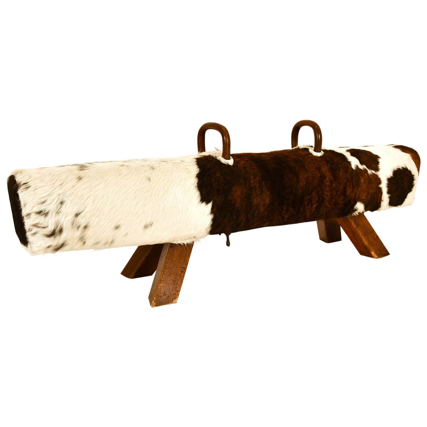 Pommel Horse Czech 1930 Gymnastic Item Bench Leather Cowhide