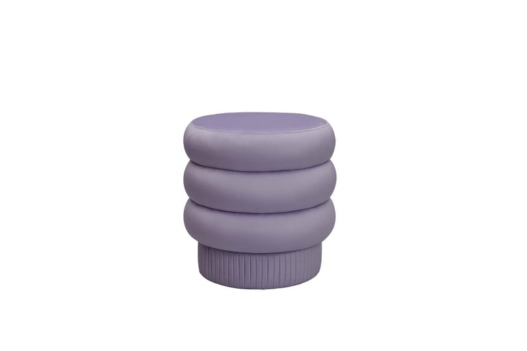 Modern Pompa Pouf by Houtique For Sale