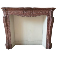 Pompadour Fireplace in Griotte-marble