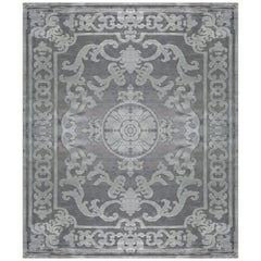 Hand Knotted - silk rug - Pompadour Gradient Alpaga, Edition Bougainville