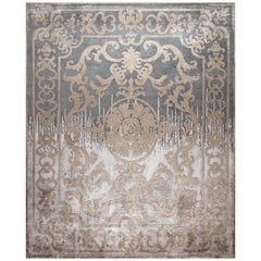 Hand Knotted - silk rugs - Pompadour Standard Shadow, Edition Bougainville