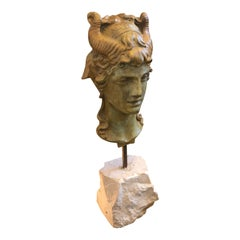 Pompeian Bronze Head by Chiurazzi Naples, circa 1930