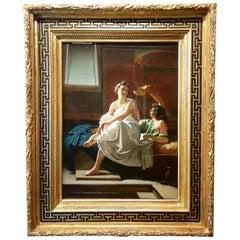 Pompeian Interior, Federico Maldarelli Oil 19th Century Italian Painting