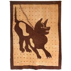 Pompeii Bad Dog Hooked Rug