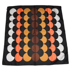 Ponte Tresa Black with Abstract Circles Scarf