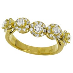 Ponte Vecchio 0.58 Carat Diamond 18 Karat Yellow Gold Ring