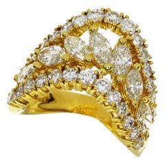 Ponte Vecchio 2.93 Carat Diamond 18 Karat Yellow Gold