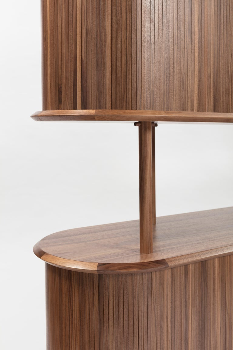 Wood Pontile, Bookcase by Accardi e Buccheri For Sale