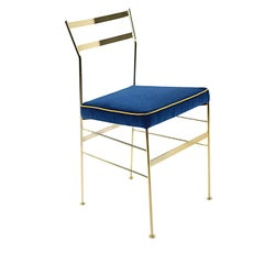 Pontina Gold and Blue Chair by Sotow