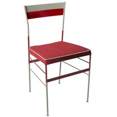 Pontina Rosso Grey Chair Made in Italy