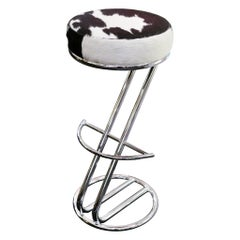 Pony 1 Bar Stool with Polished Stainless Steel Base