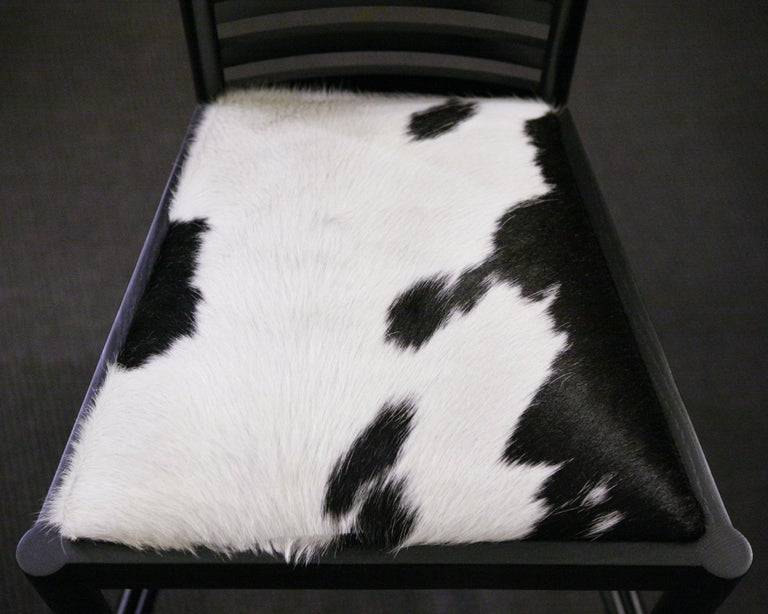 Pony 1 Macintosh Chair with Solid Ash Wood in Black Finish For Sale 4