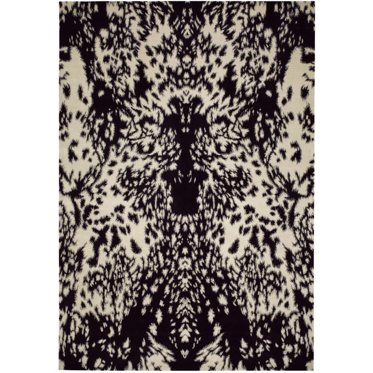 Pony Hand-Knotted 6x4 Area Rug in Wool by Alexander McQueen For Sale