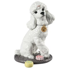 Poodle with Mochis Dog Figurine