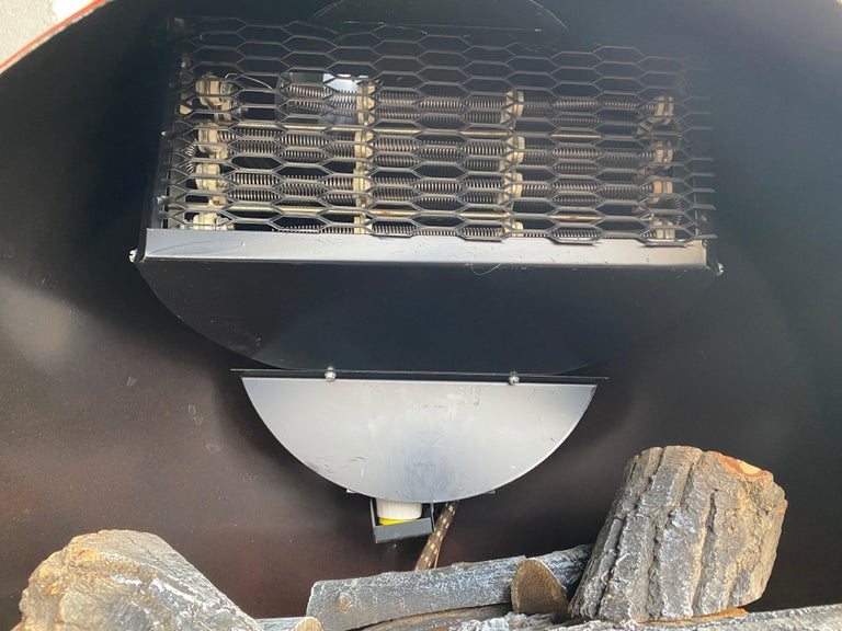 Pop 1970s Space Age, Modernist Free Standing Pre-Way Electric Fireplace For Sale 2