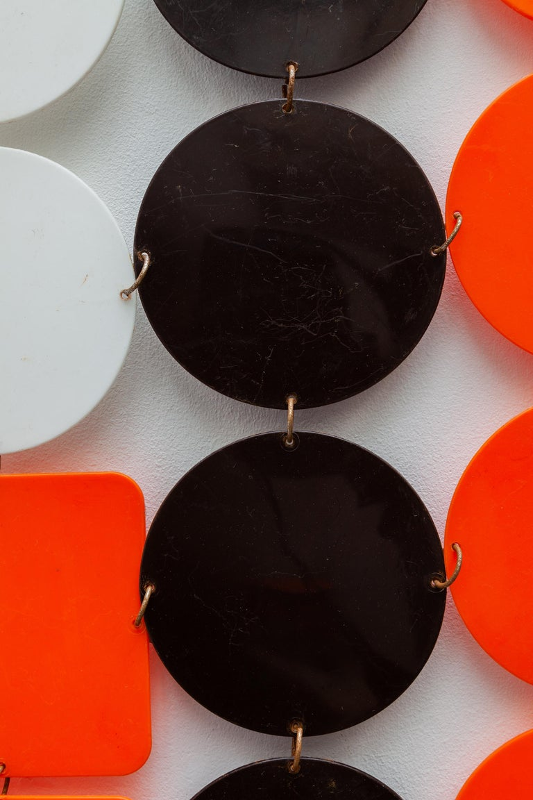 Molded Pop-Art 1960s Hanging Screen For Sale