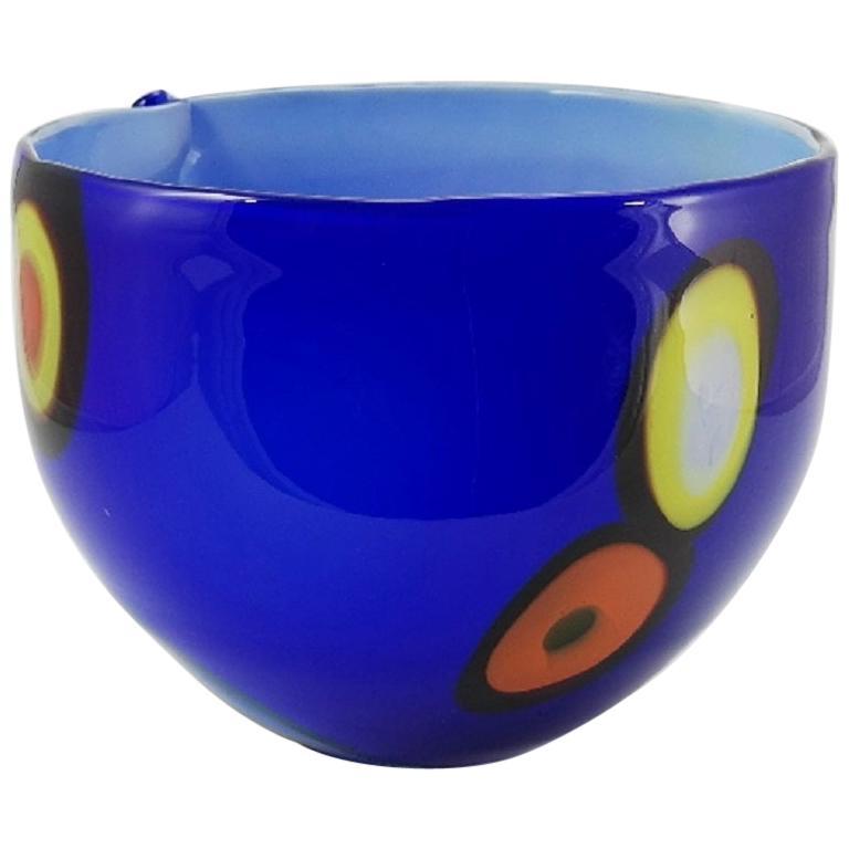 Pop Art Blown Glass Bowl Centerpiece