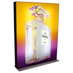 Pop Art Chanel No. 5 Vintage Advertising Lighting Display after Andy Warhol 1999