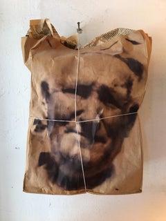 Pop Art Digital Print Portrait on a Paper Bag
