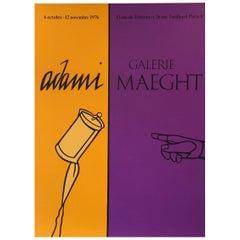 Pop Art Exhibition Poster, 'Adami' 1976, Galerie Maeght