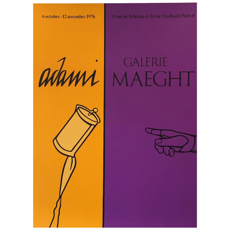 Pop Art Exhibition Poster, 'Adami' 1976, Galerie Maeght For Sale